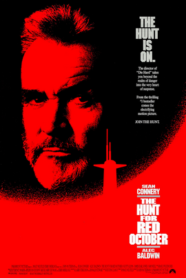 Poster tayangan pawagam filem The Hunt for Red October