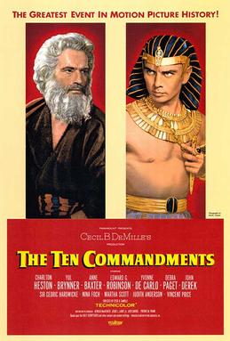 Poster tayangan pawagam filem The Ten Commandments, 1956