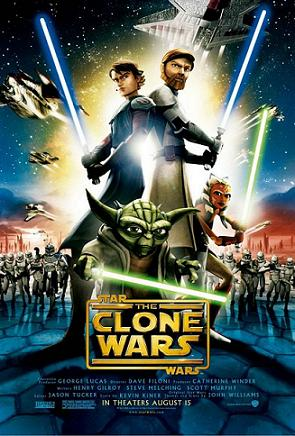 Poster tayangan pawagam filem Star Wars: The Clone Wars