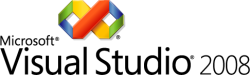 The Microsoft Visual Studio 2008 logo.