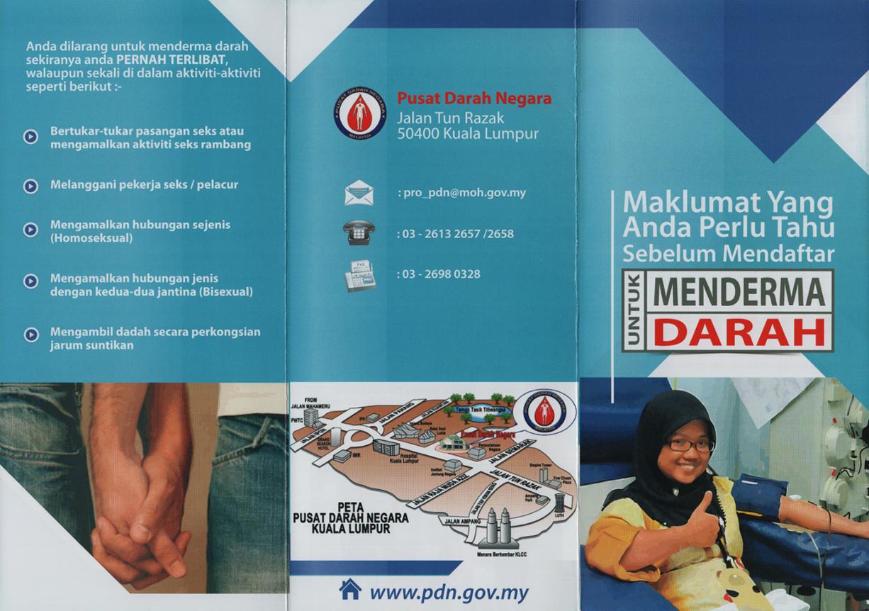 maklumat yang perlu diketahui sebelum mendaftar untuk menderma darah