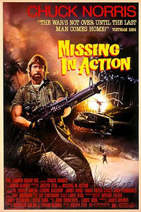 Poster tayangan pawagam filem Missing in Action