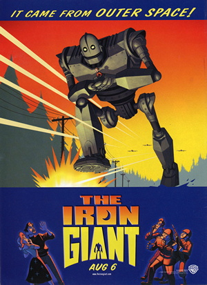 Poster tayangan pawagam filem The Iron Giant
