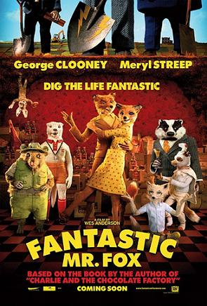 Poster tayangan pawagam filem Fantastic Mr. Fox
