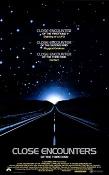 Poster tayangan pawagam filem Close Encounters of the Third Kind