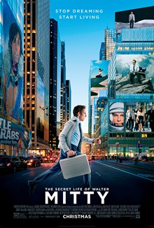 Poster tayangan pawagam filem The Secret Life of Walter Mitty, 2013