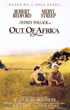 Poster tayangan pawagam filem Out of Africa