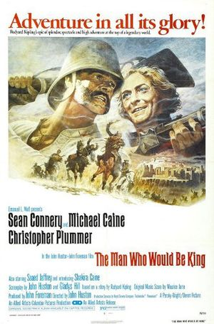Poster tayangan pawagam filem The Man Who Would Be King
