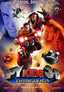 Poster tayangan pawagam filem Spy Kids 3-D: Game Over