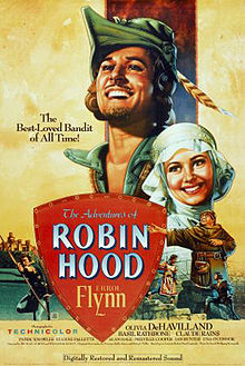 Poster tayangan pawagam filem The Adventures of Robin Hood