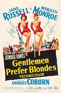 Gentlemen Prefer Blondes (1953) film poster.jpg
