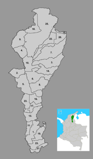 Municipalities in the Cesar Department