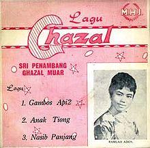 Satu album Ghazal piring hitam yang didendangkan oleh Ramlah Adon.