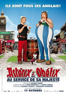 Poster tayangan pawagam filem Astérix and Obélix: God Save Britannia