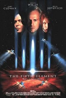 Poster tayangan antarabangsa bagi The Fifth Element