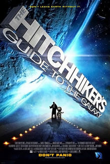 Poster tayangan pawagam filem The Hitchhiker's Guide to the Galaxy