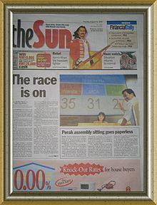 The Sun (Malaysia) - Wikipedia Bahasa Melayu, ensiklopedia ...