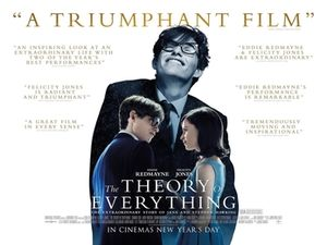 Poster tayangan pawagam filem The Theory of Everything