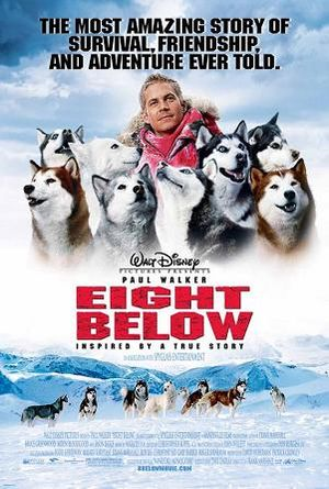 Poster tayangan pawagam filem Eight Below