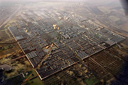 Rendering of the future Masdar City from the air