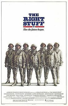 Poster tayangan pawagam filem The Right Stuff