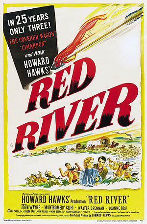 Poster tayangan pawagam filem Red River