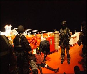 Malaysian Commandos Securing The Somali Pirates.jpg