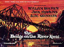 Poster tayangan pawagam filem The Bridge on the River Kwai