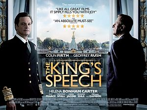 Poster tayangan pawagam filem The King's Speech