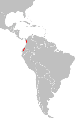 Caenolestes convelatus distribution map.PNG