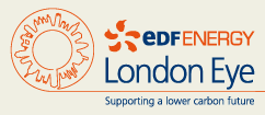 The current EDF Energy London Eye logo