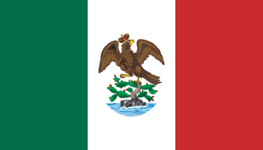 Īxiptli:Flag of Mexico 1821.png