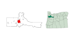 Location in Marion and Polk Counties, state of Oregon
