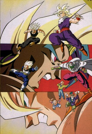 Dragon ball z burn up a close fight a violent fight a super fierce fight wikip dia a - Sangohan super saiyan 3 ...