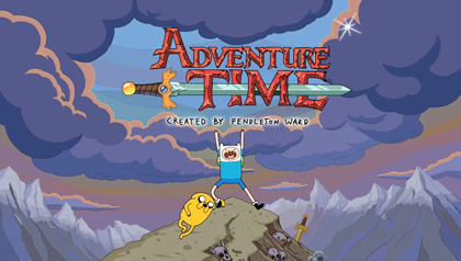 adventure time blue background - photo #34
