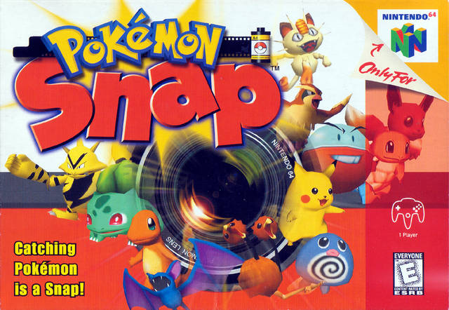 Pokémon Snap 64-cover game/ top game n64