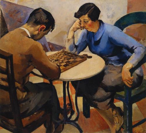 Ficheiro:Abel Manta, Jogo de Damas, 1927, óleo sobre tela, 106 x 116 cm .jpg