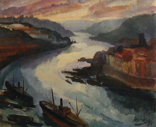 Ficheiro:Dordio Gomes, O rio Douro, 1935, óleo sobre madeira, 50 x 60 cm.jpg