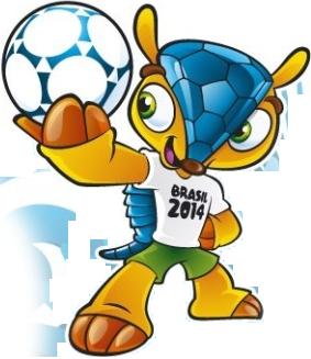 25775af0a9 Mascote da Copa do Mundo FIFA 2014 com a bola da competição