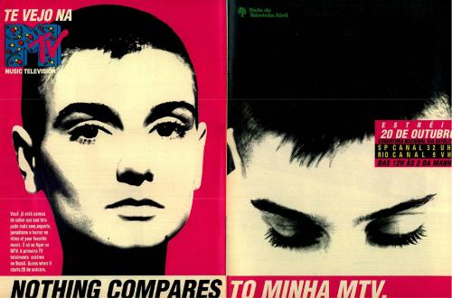 a9536f88eb2 Anúncio de estreia da MTV Brasil na revista Veja do dia 17 de outubro de  1990.