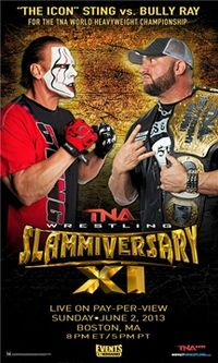 Poster promocional do evento com Sting e Bully Ray