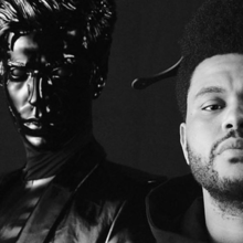 Imagem promocional do single de Gesaffelstein e The Weeknd, Lost in the Fire