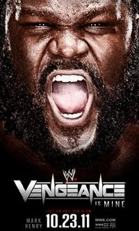 Poster promocional do evento, com Mark Henry