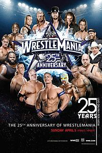 cartaz do evento WrestleMania XXV.