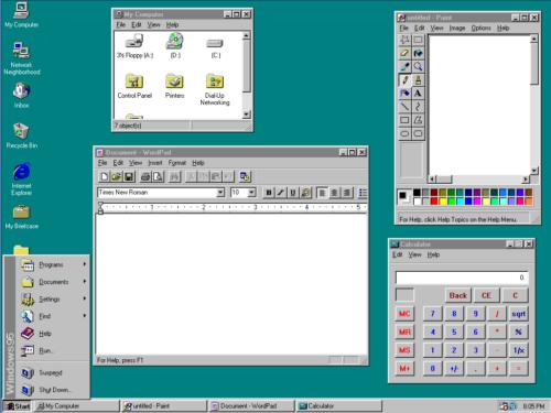 Am windows95 desktop