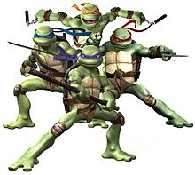 Tartarugas ninja wikipdia a enciclopdia livre as tartarugas ninja no sentido horrio michelangelo raphael donatello e leonardo thecheapjerseys Image collections