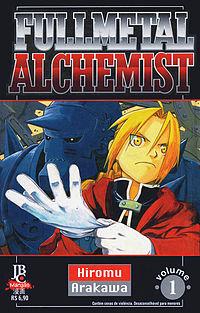 Capa do primeiro volume de Fullmetal Alchemist publicado pela Editora JBC