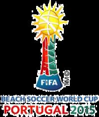 7434149255 de Futebol de Areia de 2015. Portugal 2015. 2015 FIFA Beach Soccer World  Cup logo.png