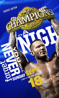 Poster promocional do evento com Randy Orton