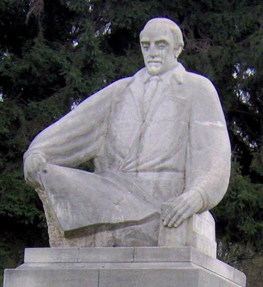 Statuia Acad. Alexandru Borza din Grădina Botanică Cluj-Napoca